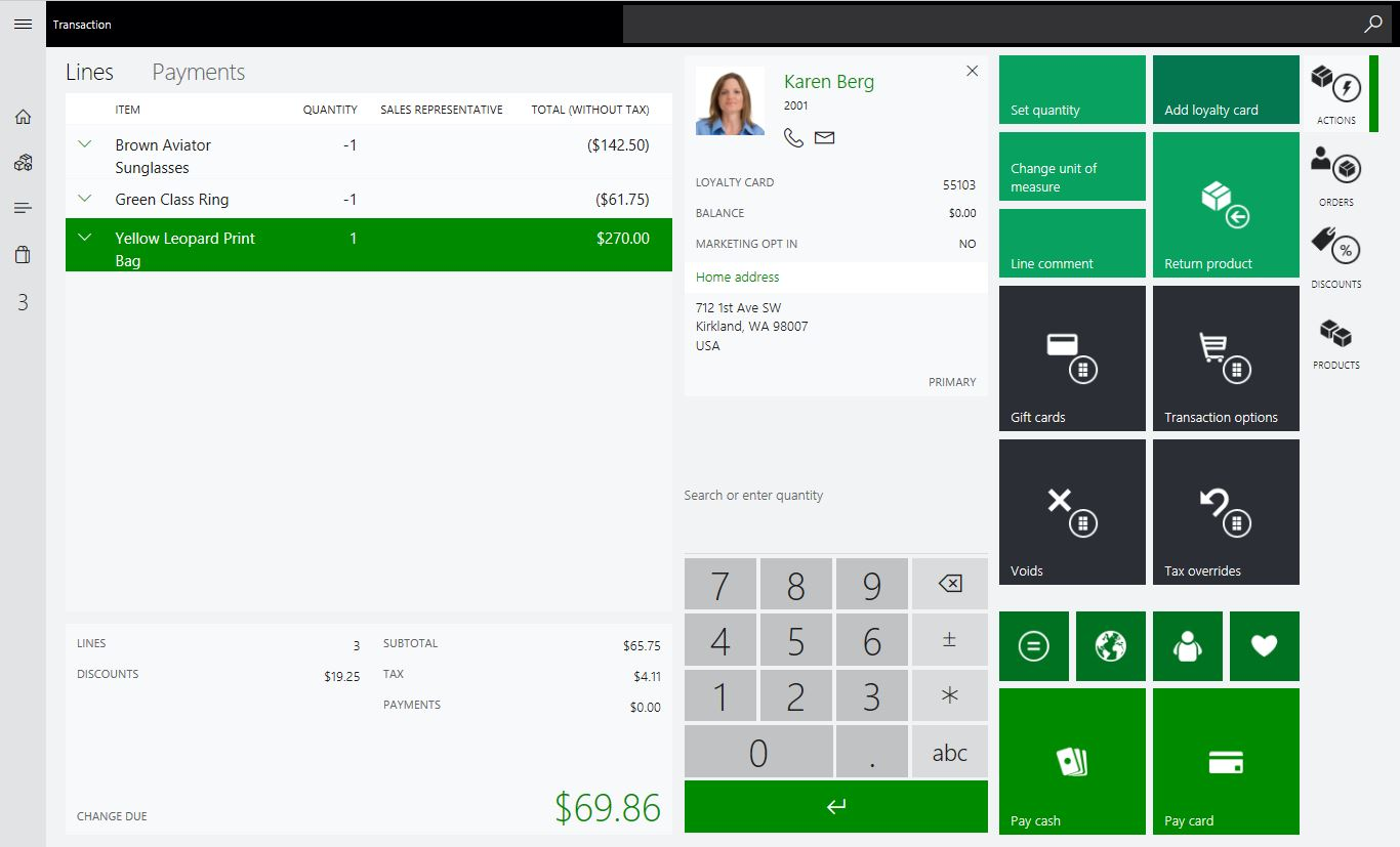 Exchange Transaction in Dynamics 365 for Retail POS Software