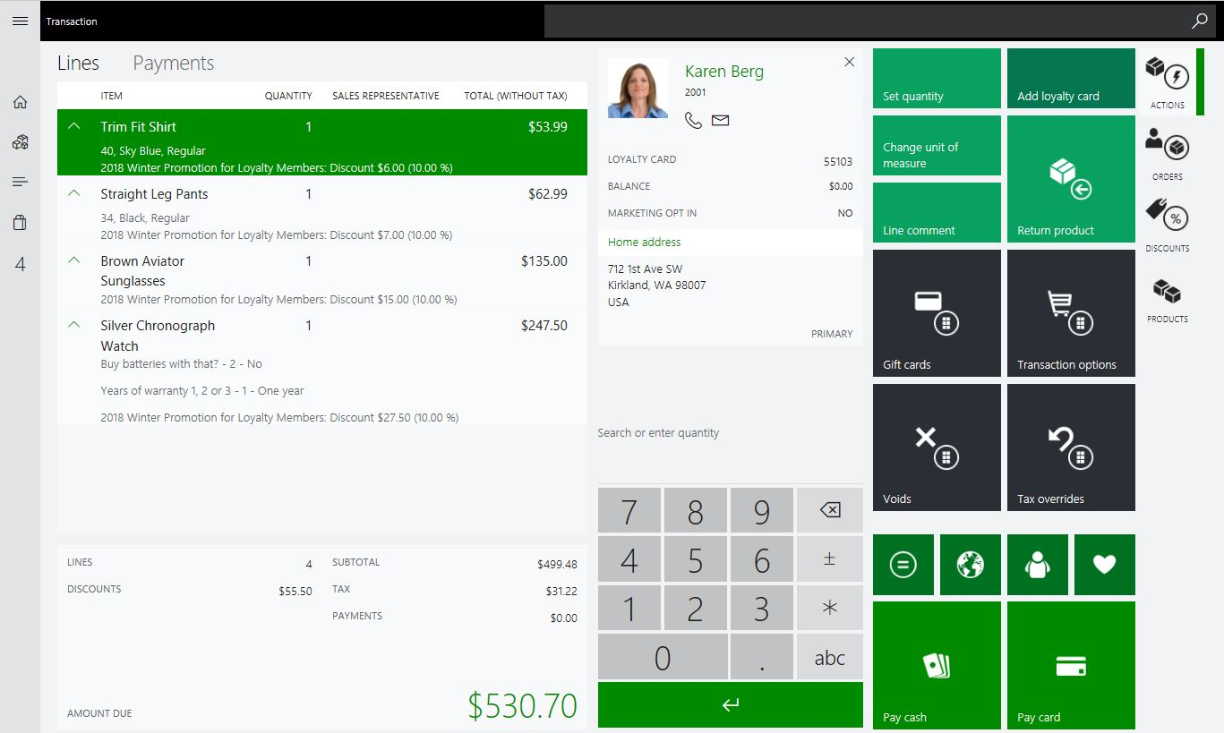 Promotion on an Order in Dynamics 365 for Retail POS, D365 Promotions