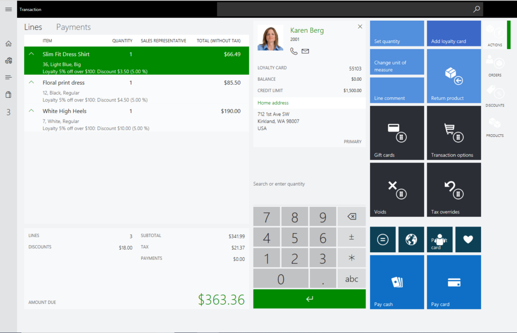Sales Order to Loyalty Member in Microsoft Dynamics 365 for Retail