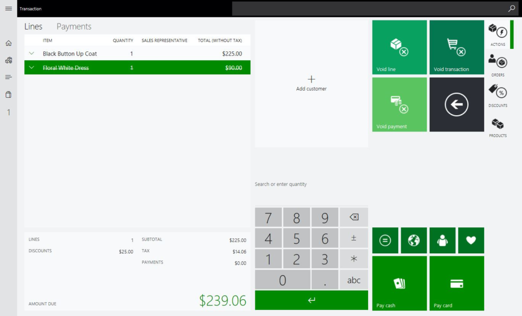Voiding a Sale Order or Item Transaction in Microsoft Dynamics 365 for Retail