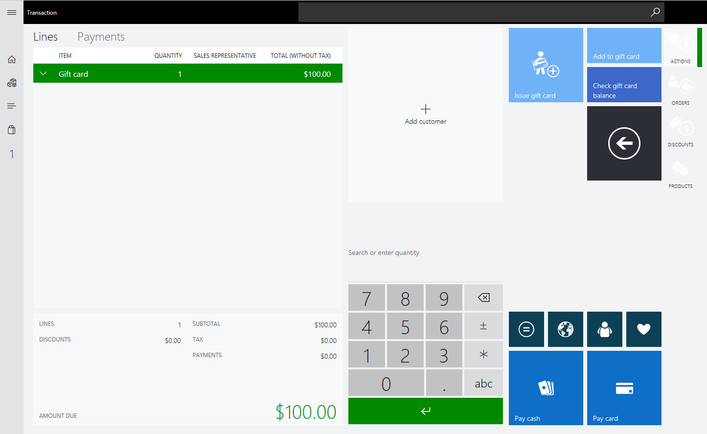 Dynamics 365 for Retail POS Gift Cards; Microsoft Point of Sale Gift Cards